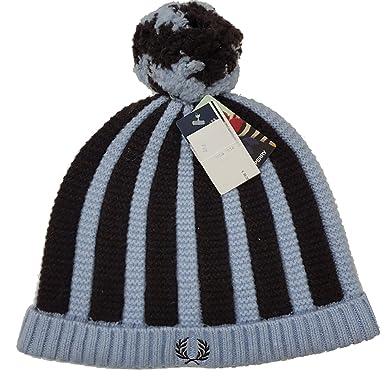 Fred Perry - Gorra para Hombre C5110 105, Color Negro y Azul ...