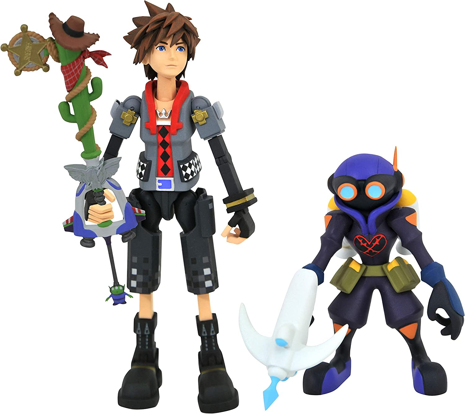 and Soldier Action Figure Sora Dusk Diamond Select Toys Kingdom Hearts Select