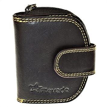 6dc0e71a88eff1 Elegante kleinere Damen Leder Geldbörse in halbrund mit RFID Schutz (braun)