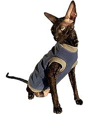 Kotomoda Katzen Kleidung Pullover Blau Vlies