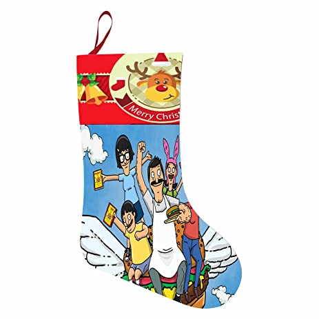 bobs burgers christmas stockings non woven xmas party stair cases accessory ornament gift bag