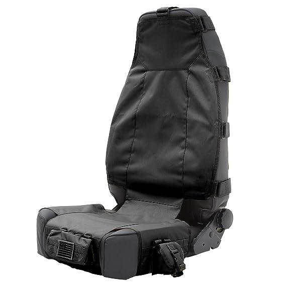 8102f1ae3f Amazon.com  Smittybilt 5661001 GEAR Black Front Seat Cover  Automotive