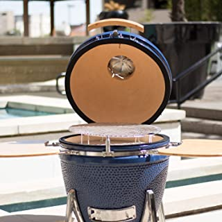 Lonestar Chef SCS-K22 Kamado Charcoal Ceramic Grill and Smoker, 22 Inch, Blue