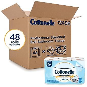 dae30e9adf0d Cottonelle Ultrasoft Bulk carta igienica (12456), standard, rotolo di carta  igienica 48 rotoli/case (4 confezioni da 12): Amazon.it: Commercio, ...