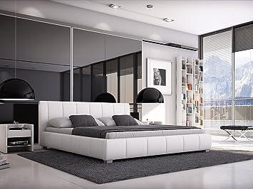 Moderne Polsterbetten sam polsterbett 140x200 cm weiß bett mit gepolstertem hohen