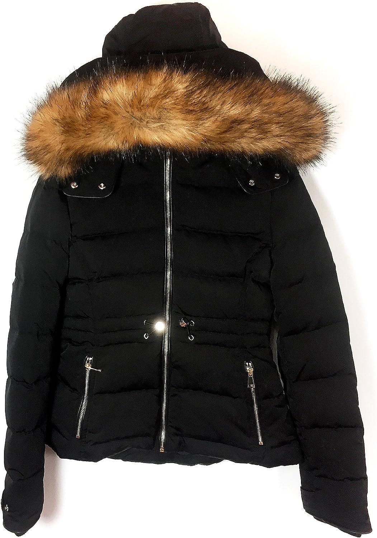 Zara Women Down Puffer Jacket With Hood 0518068 Black X