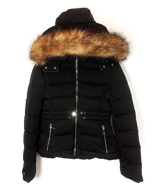 ddc2865a Zara Women Down Puffer Jacket With Hood 0518/068 (Small): Amazon.ca ...