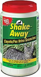 Shake Away 5006458 Coyote/Fox Urine Granules – Repels Domestic Cats, 5 lb