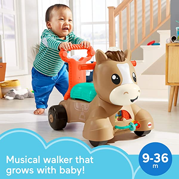 Fisher-Price Walk, Bounce & Ride Pony push riding ride on toy for kids