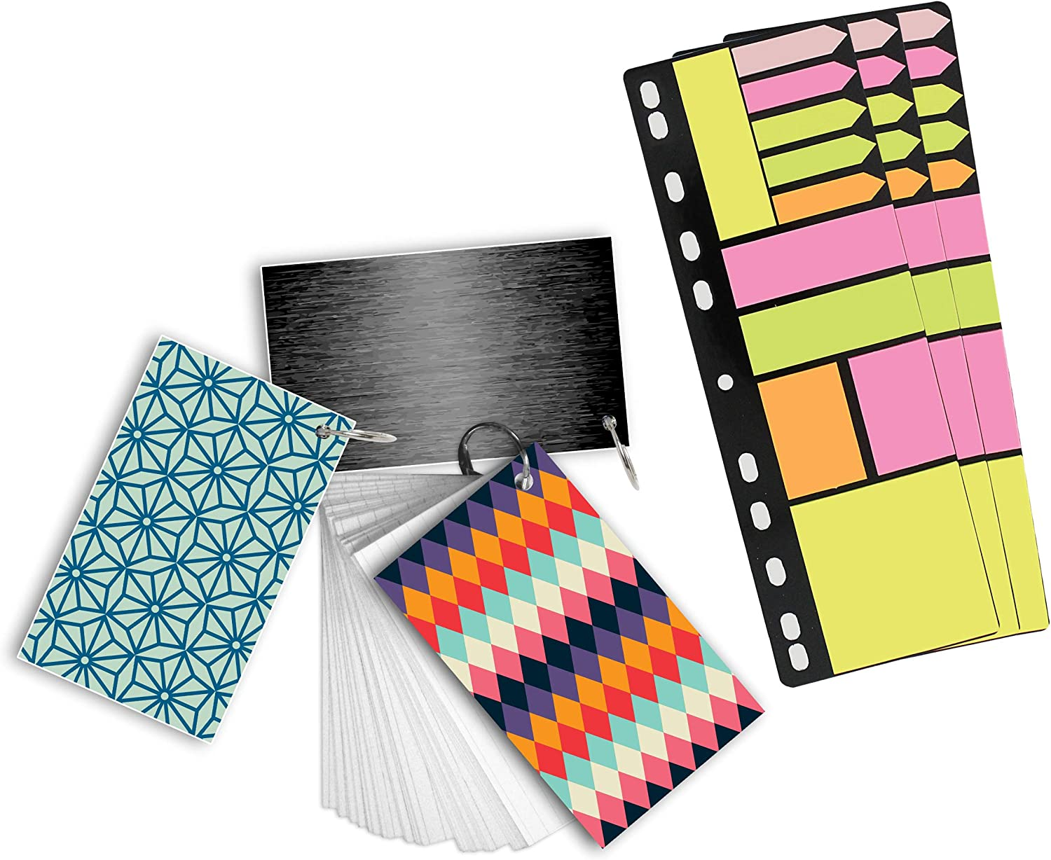 Includes 810 Sticky Notes and 225 Index Cards Redi-Tag Study Buddies Multi-Pack 10075 Binder Notes and Cram Cards