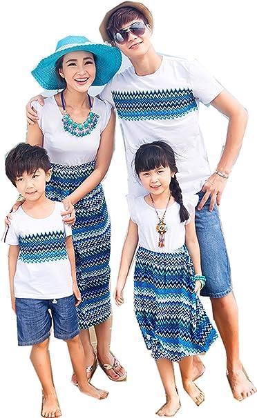 親子 ペアルック ワンピース お揃い 半袖 Tシャツ メンズ レディース 女の子 男の子 子供服 親子ペア