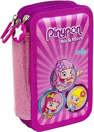 Pinypon - Estuche Escolar con Set Completo de Materiales Escolares para niños y niñas a Partir de 3 años, Color Rosa (Famosa 700016001): Amazon.es: Equipaje