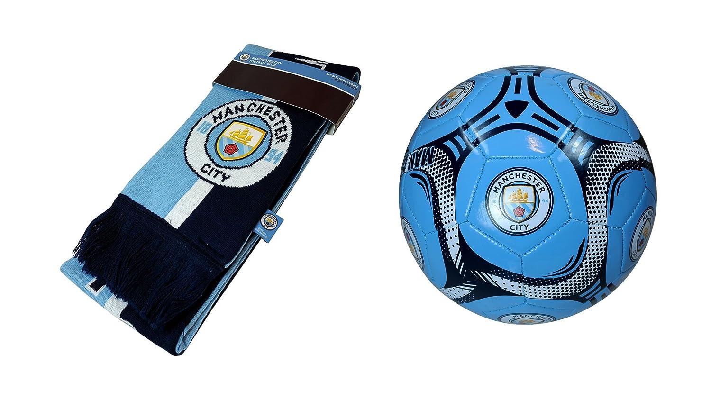 マンチェスターシティFC Official Licensedサッカーサイズ5ボール&スカーフコンボ08 – 3 B0785PJR5S