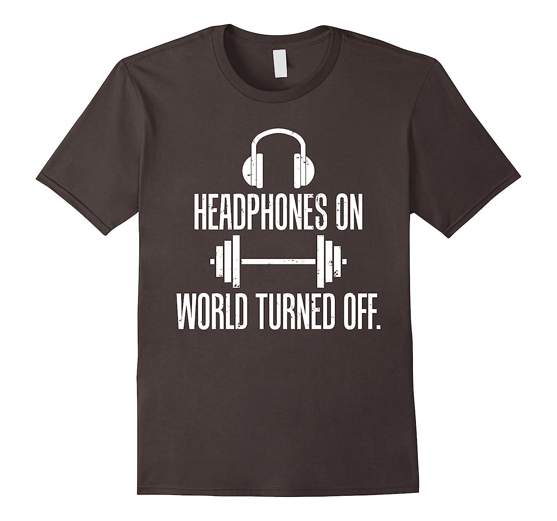 Headphones On World Turned Off Tee-RT