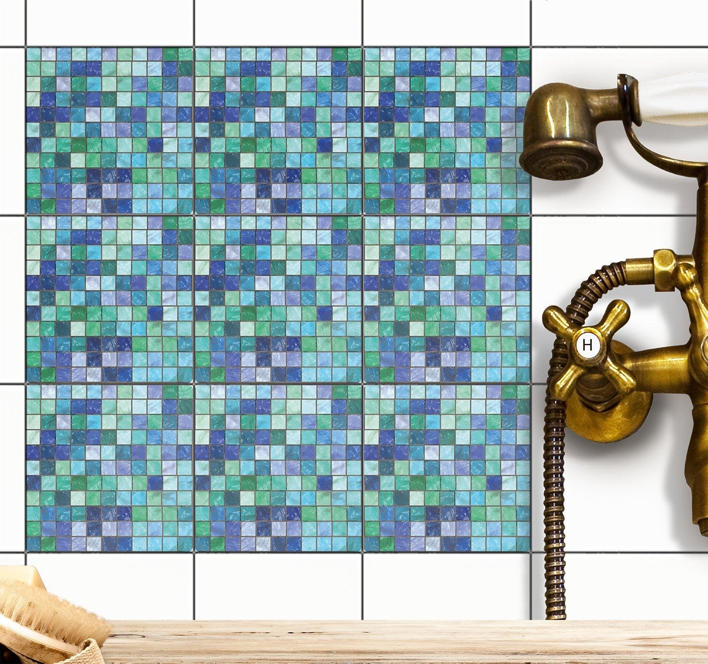 Klebefolie Fliesen-Mosaik | Fliesenaufkleber für Badezimmerfliesen ...