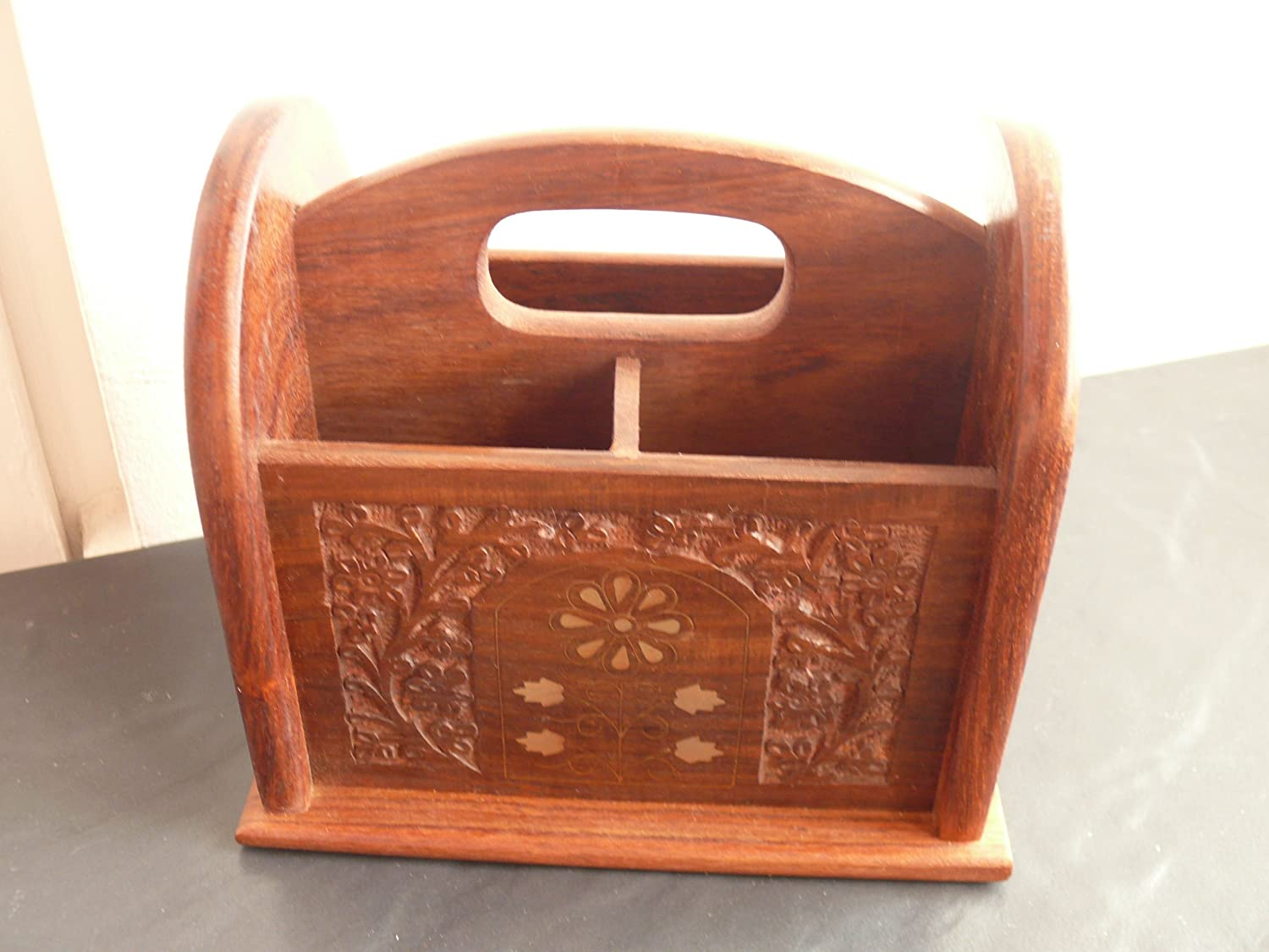 Fairtrade Sheesham wood remote control holder by The Camphor Tree