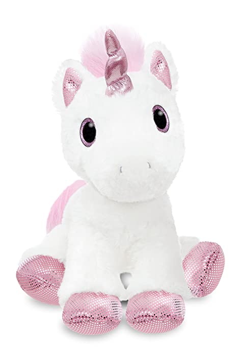 Amazon.com: Aurora World 60854 Sparkle Tales Princess Unicorn 12in White: Toys & Games