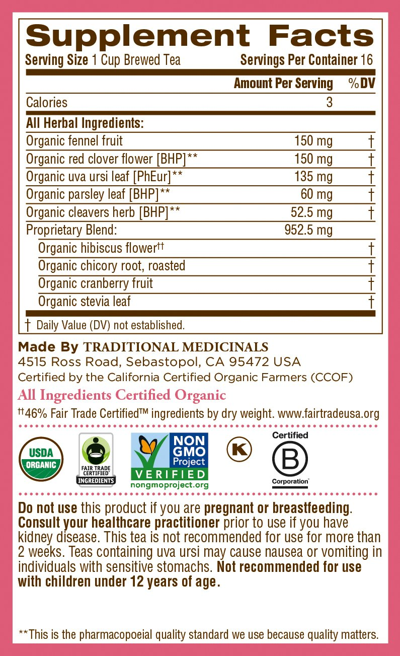 Traditional Medicinals Organic Weightless Cranberry Women's Tea, 16 Tea Bags (Pack of 6) by Traditional Medicinals (Image #6)