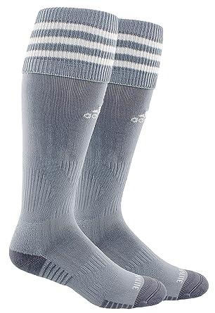 a7150c3df Adidas Copa Cushion III Over The Calf Soccer Socks (Small, Light Grey/White