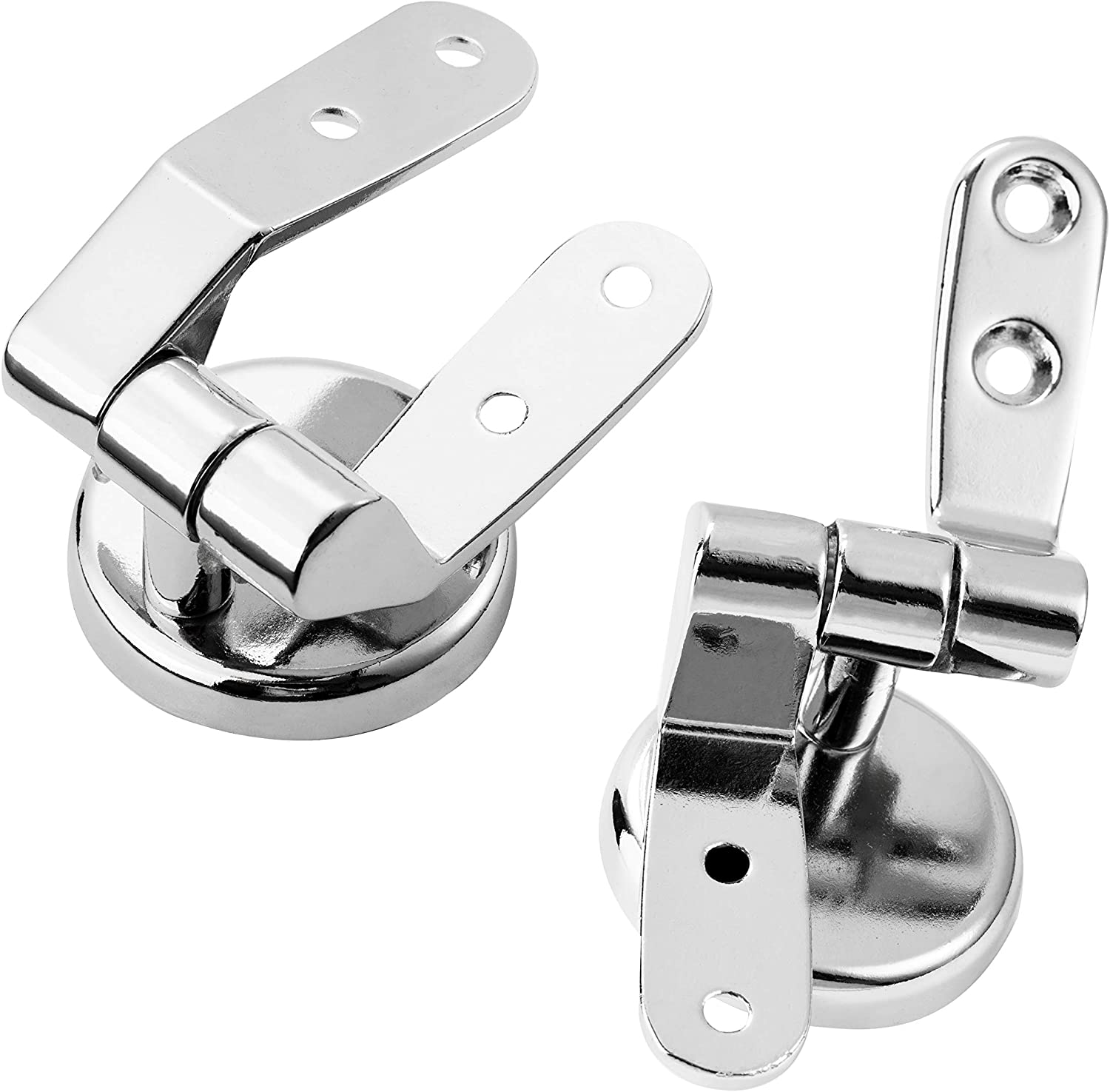 Locisne 1 Pair Toilet Seat Hinges,Universal Adjustable Zinc Alloy Finished Replacement Toilet Seat Hinges Fittings for Toilet Seats DIY Repair Kit