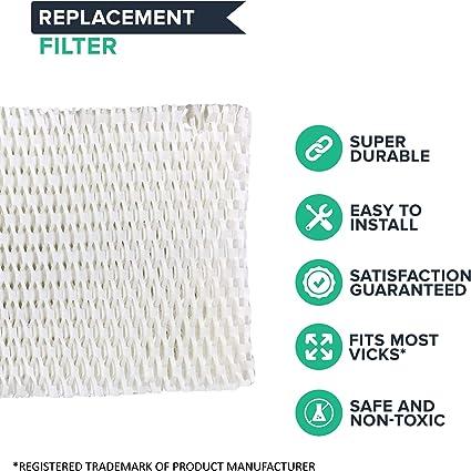 1 Vicks WF2 Humidifier Filter, Fits Vicks V3500N, V3100