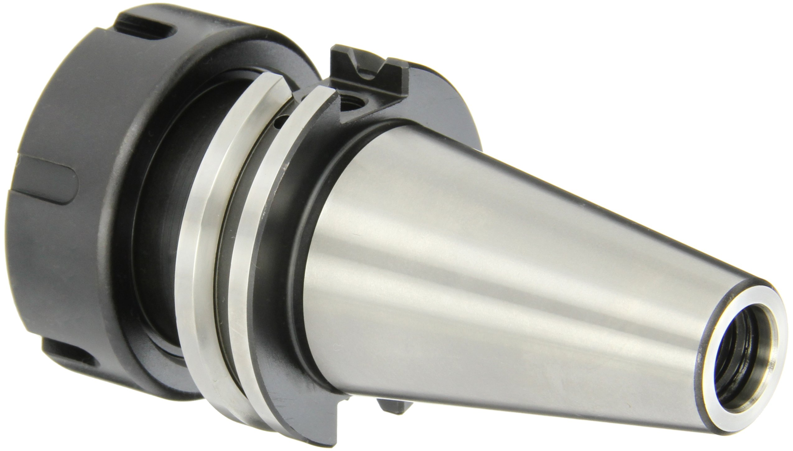 Dorian Tool ER40 CAT40 Shank Alloy Steel 8620 Collet Holder, 2.5'' Projection, 2.48'' Nose Diameter, 0.118'' - 1.023'' Collet Range