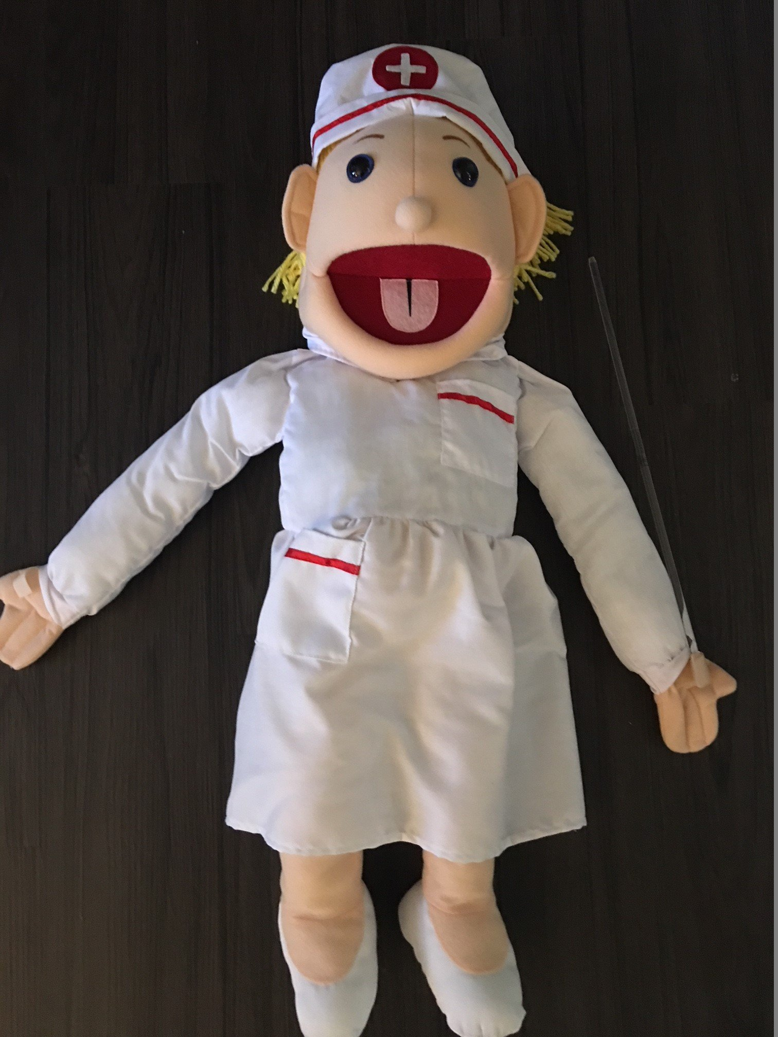 28'' Blonde Nurse Puppet, Full Body, Ventriloquist Style Puppet by Puppets4u (Image #3)