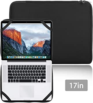 "17/"" Laptop Sleeve Bag Notebook Case+4 Straps For 17.3 17.4/"" HP Dell MSI Lenovo"
