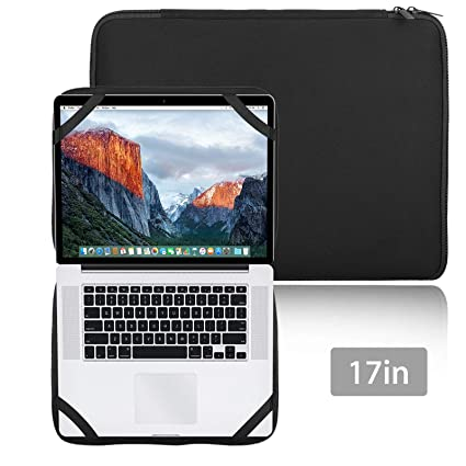 """EEEKit 17 Inch Laptop Case Sleeve Protector Notebook Pouch Cover with 4 Elastic Bands for 13"""""""