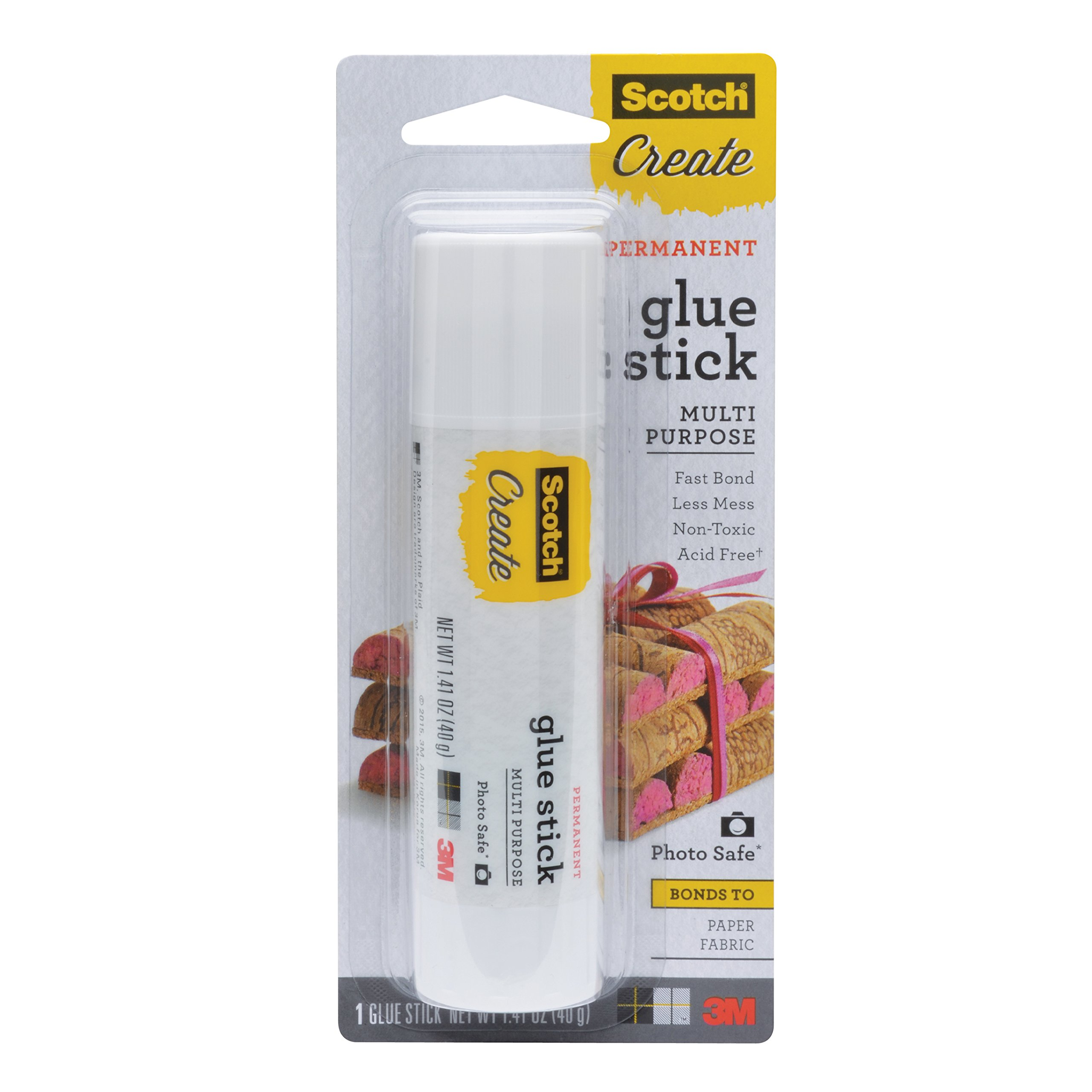 Scotch Glue Sticks, 4 Packs, 1.41 oz/Stick, 5.64 oz Total (003-CFT)