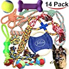 Jalousie 5 Pack Puppy Chew Dog Rope Toy Assortment for Medium Large Breeds