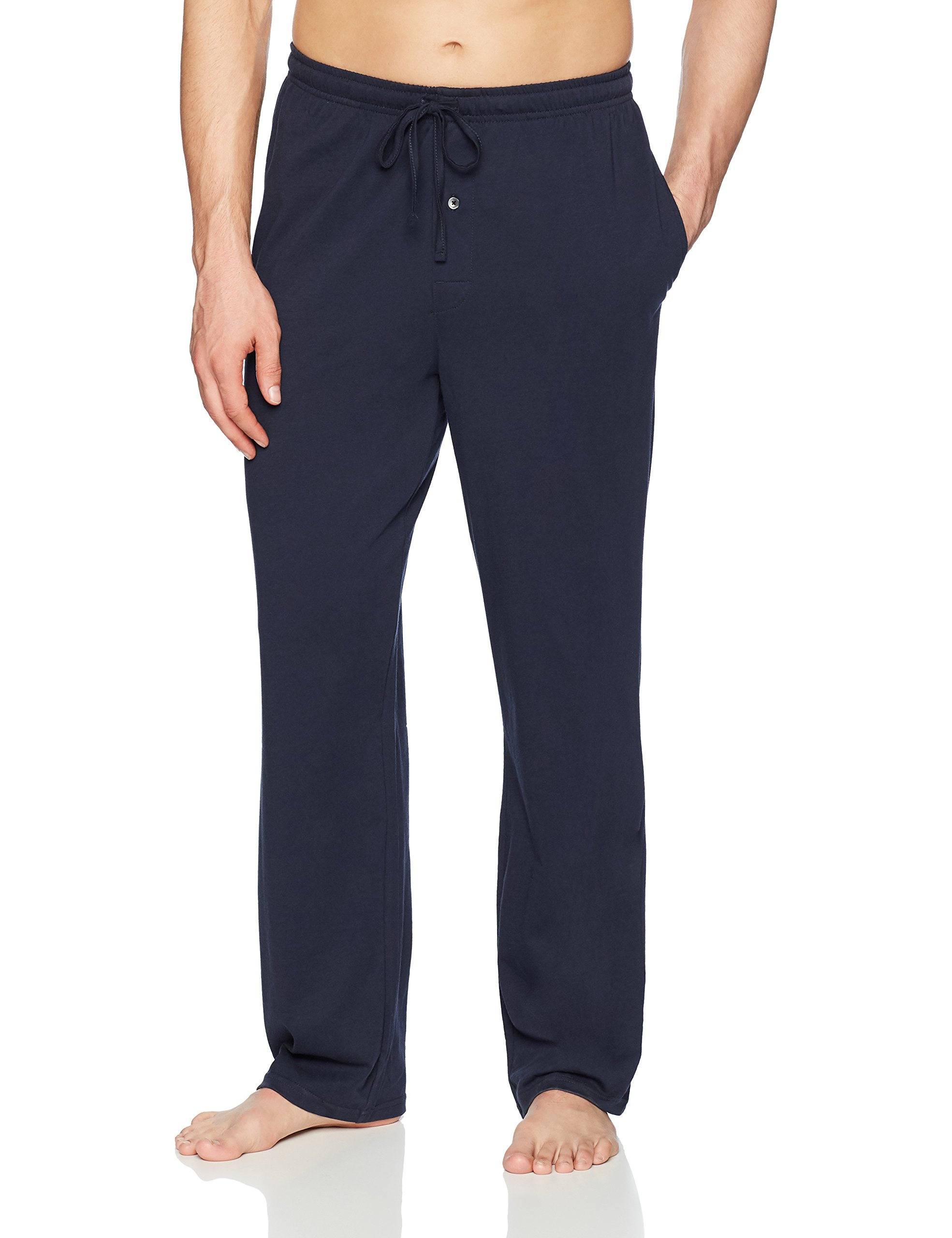 Amazon Essentials Men's Knit Pajama Pant, Navy, Medium
