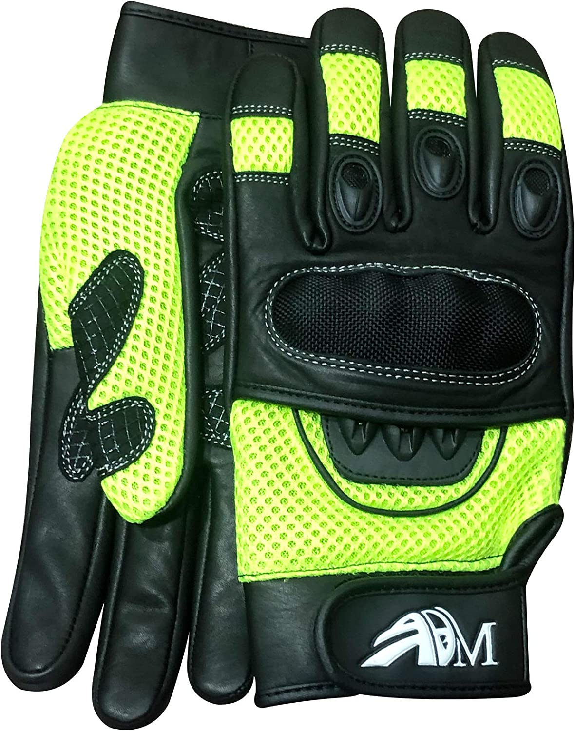 9001 Black, L Ultimate Pro-biker Cow Analine Leather Sports Motorcycle Motorbike Full Finger Summer Mountain Bicycle Riding Sports Glove with Knuckle Protection for men/'s safety 9001
