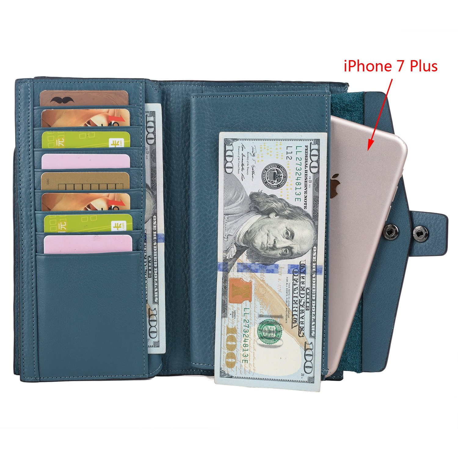 Heavy Duty 4pc Set RFID Blocking Stainless Steel Card Case Wallet Mixed Color