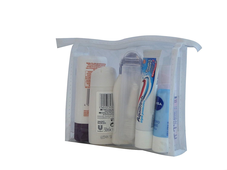 Nivea - Set de regalo de viajes de vacaciones - Deo, ducha, champú, acondicionador, Creme, labios, dental care: Amazon.es: Belleza