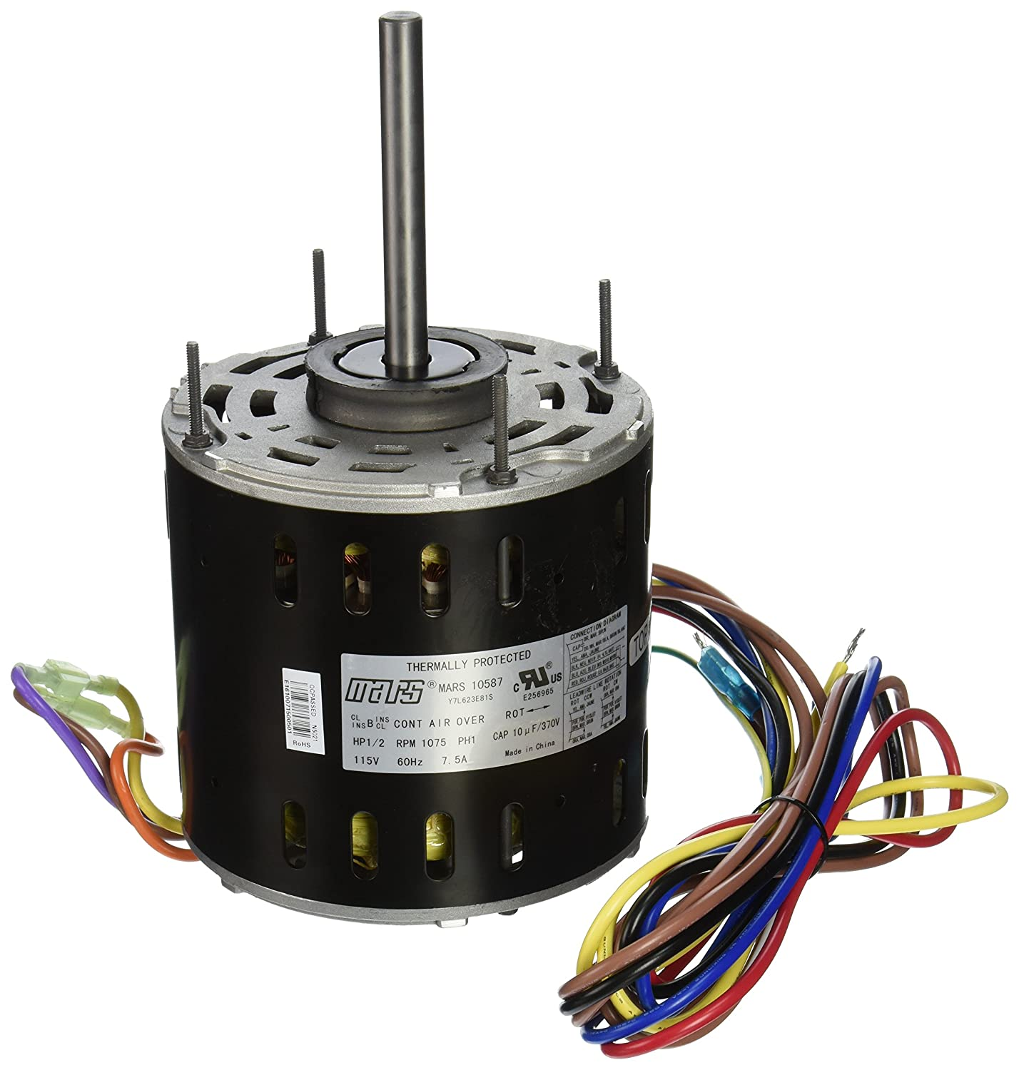 MARS - Motors & Armatures 10587 1/2 hp 115V Direct Drive ... Mars Wiring Diagram Color on color wiring code, bug diagram, color sensor diagram, color filters diagram, color body diagram,