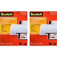 $69 » Scotch Thermal Laminating Pouches, 8.9 x 11.4-Inches, 5 mil Thick, 50-Pack (TP5854-50), 2 Pack of 50