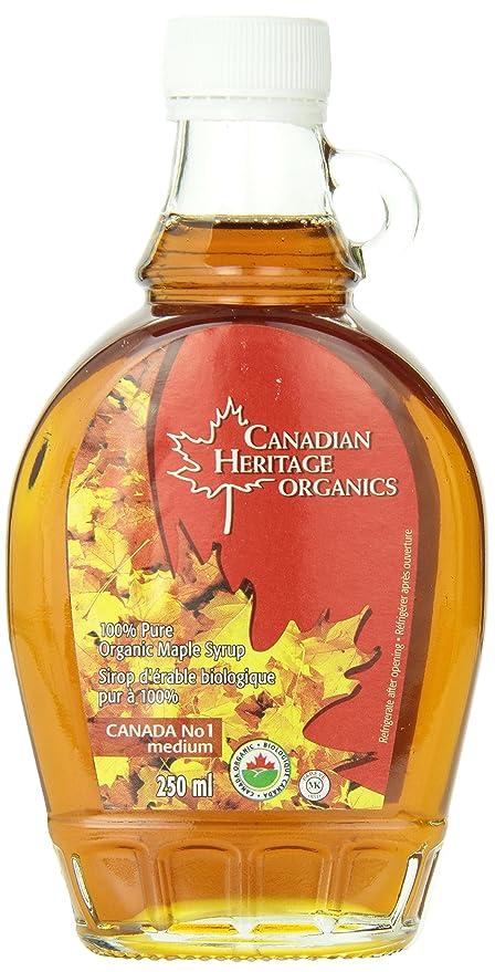 Canadian Heritage Organic Maple Syrup-Maple Syrup Medium No 1, 250Ml