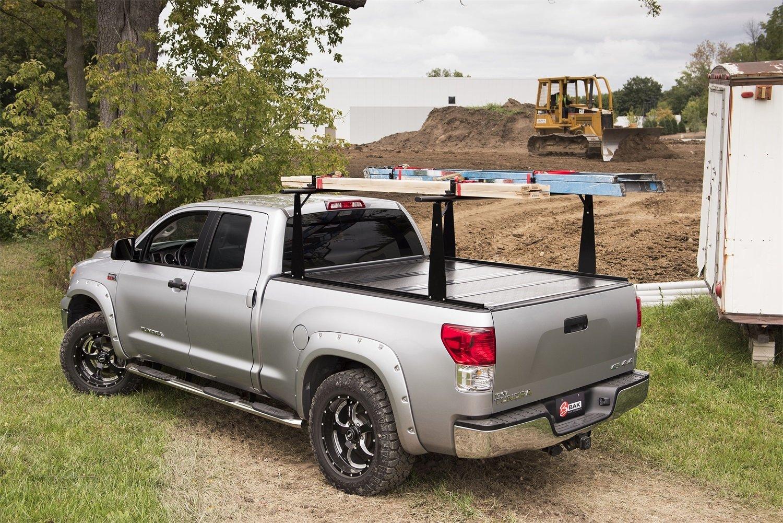 Bak Industries 72327BT BAKFlip CS-F1 Hard Folding Truck Bed Cover and Sliding Rack System