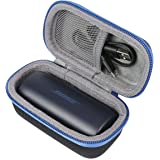co2crea Hard Travel Case for Bose SoundSport Free Truly Wireless Sport Headphones (Black Case + Blue Zipper)