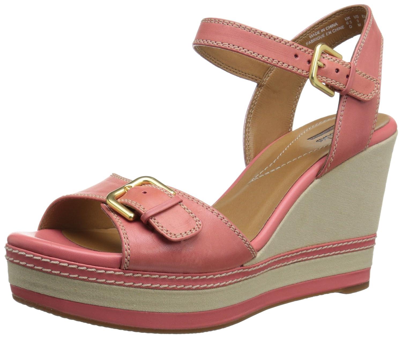 CLARKS Women's Zia Castle Platform Sandal B00N9QBFJC 9 B(M) US|Coral