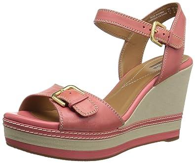 Clarks Women's Zia Castle Platform Sandal, Coral, ...