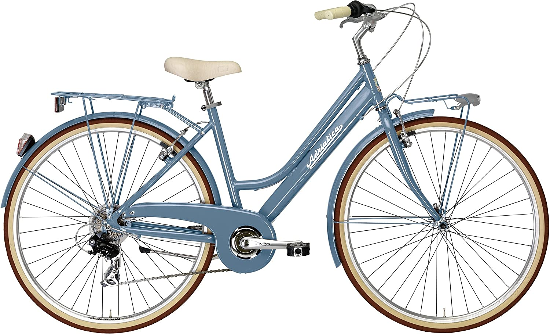 Adriatica - Bicicleta de ciudad para mujer de 28 pulgadas Sity Retro Lady, azul: Amazon.es: Deportes y aire libre