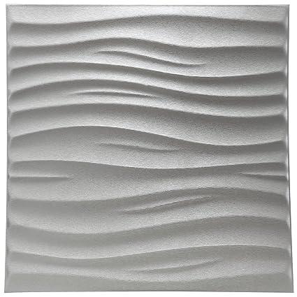 Art3d Faux Leather Tiles Textured 3D Wall Panels Wave Design 236quot X