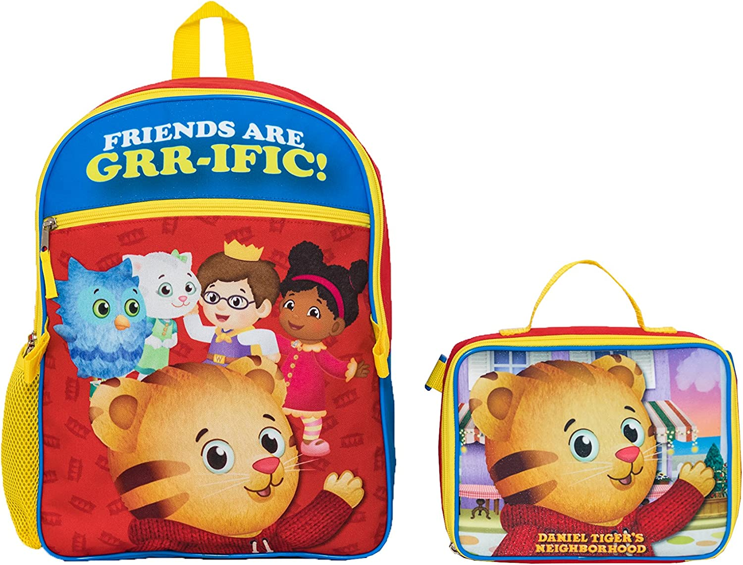 Amazon Com The Fred Rogers Company Boys Daniel Tiger Backpack With Lunch Kit Red One Size Casual Daypacks