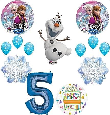 Amazon.com: Frozen 5th Fiesta de cumpleaños suministros Olaf ...