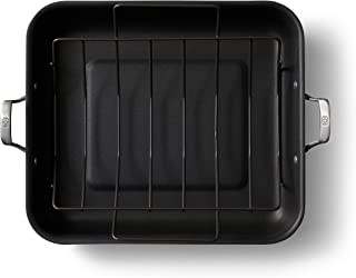 product image for Calphalon Premier Hard-Anodized Nonstick 16-Inch Roaster with Rack, Black