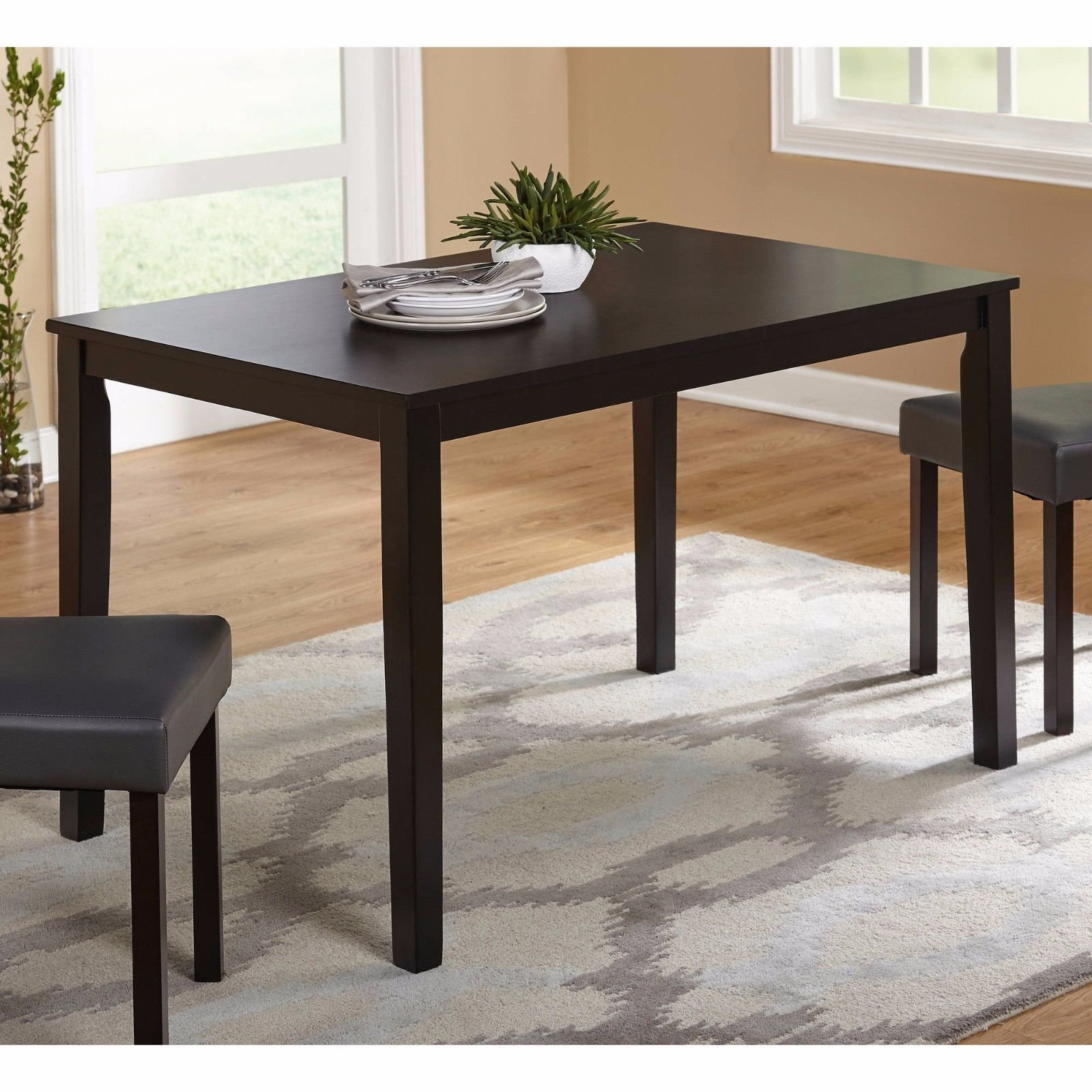 4 Person Cappuccino Dining Table, Small Dinette 30x48