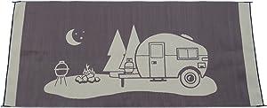 Snowbird Light Reversible Mat- Happy Camping (8 ft. x 18 ft,)