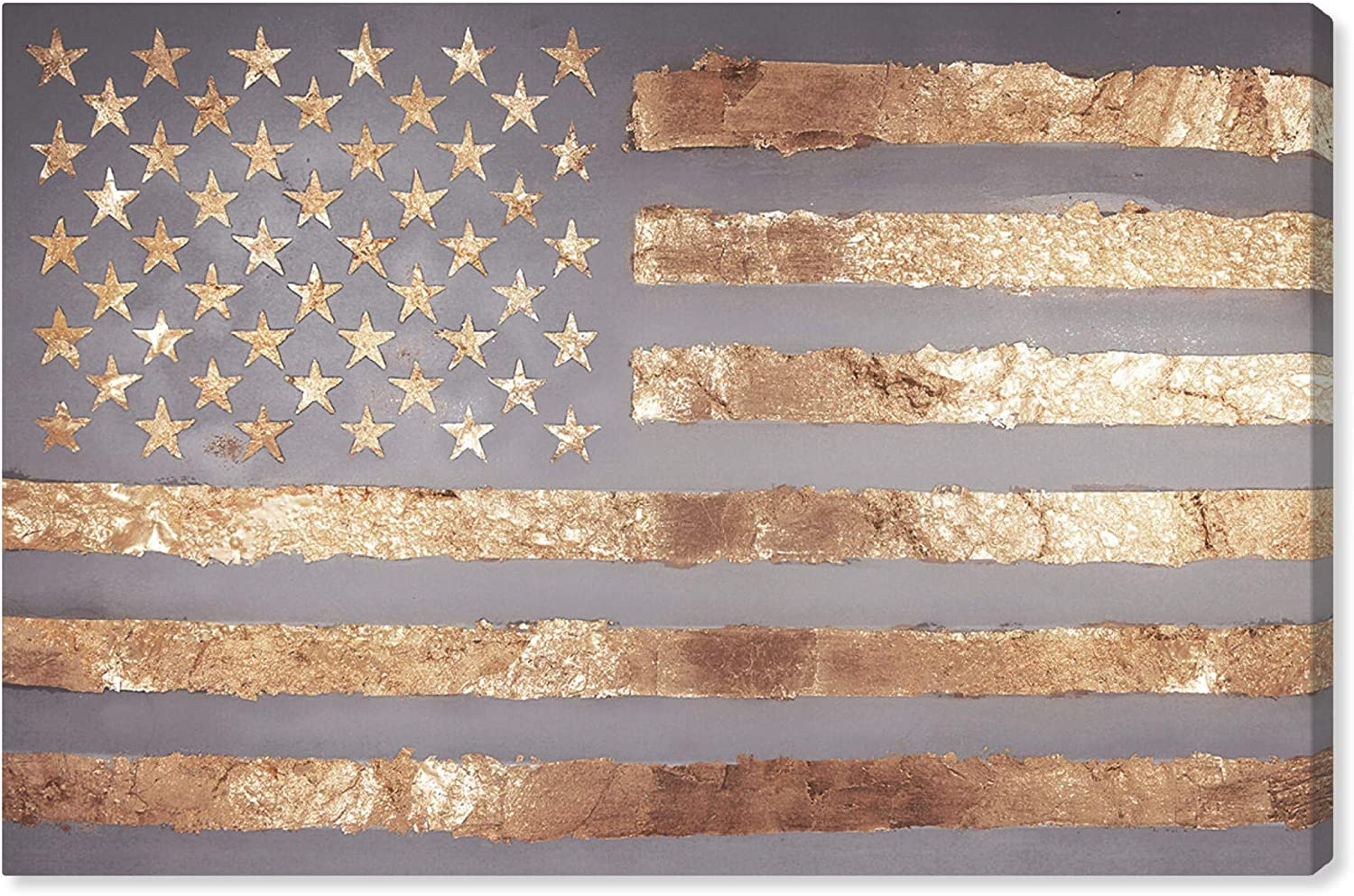 The Oliver Gal Artist Co. Maps and Flags Wall Art Canvas Prints 'Rocky Freedom' Home Décor, 30